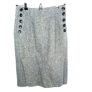 Dresses & Skirts - Gray tweed wool pencil skirt fully lined size 4